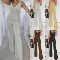 Women Clubwear Playsuit Bodycon Party Jumpsuit Romper Trousers Long Flared Pants