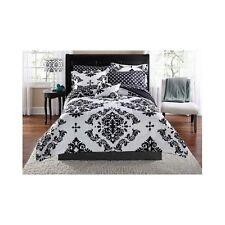 Damask Bedding Set Comforter Modern Reverse Black White Bag Beautiful Sham Twin