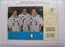 Great Britain - Davaar Island - Block Apollo 8 Moon orbit 1968 used