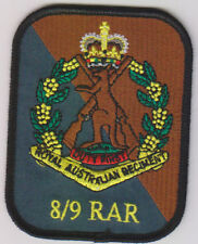 8TH/9TH BN RAR PATCH WITH SKIPPY BADGE  HEAT ADHESIVE BACKING 70 X 90MM INFANTRY