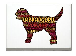 Labradoodle Dog Art Print Word Art A4 A3 Mothers Day Gift Personalised Option