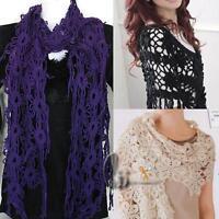 AU SELLER Vintage Stely Crochet Knit  Warmer Scarf Shawl Wrap sc015