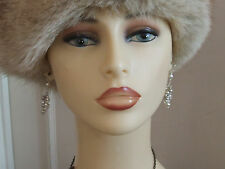 Gorgeous Silver & Pearliescent Bucnch Hanging Faux Pearl Earrings (Piered Ears)