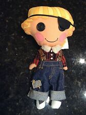 Lalaloopsy Doll Pirate boy button eyes overalls plush stuffed animal RARE EUC