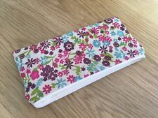 Handmade Pencil / Make Up / Glasses Case Made With Antique Erica Fabric
