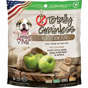 Loving Pets Totally Grainless Chicken And Apple Recipe Meaty Chew Bones For