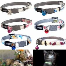 More details for cat collar glow in dark with bell rogz glowcat safety release breakaway collars