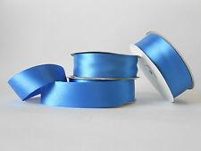 Nastro doppio raso 40mm rotolo bobina da 50 mt Blu elettrico fai da te art D4026