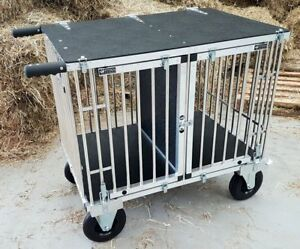 "Titan 2 Berth MIDI Aluminium Dog Show Trolley - with 8"" All Terrain Wheels"