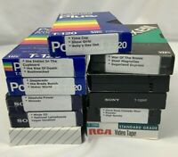 Lot of 11 Mixed Pre Recorded VHS VCR Tapes Sold As Used Blanks