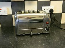 dualit 4 slice  toaster stainless steel and chrome finish