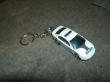 FORD FUSION POLICE CAR DIECAST MODEL CAR KEYCHAIN KEYRING NEW WHITE COP CAR