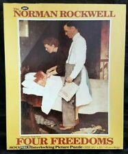 Jaymar 800 Piece Norman Rockwell FOUR FREEDOMS FREEDOM FROM FEAR Puzzle!