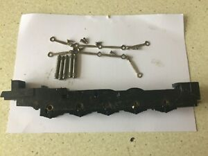 00 GAUGE 0-10-0 LOCO CHASSIS + AXLES CON RODS & SCREWS hornby 9F 2-10-0