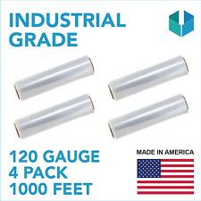 "18"" x 1000' 120 Gauge Pallet Wrap Stretch Film Hand Shrink Wrap 1000FT All Pack"