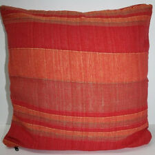 Kissenhülle Kissen 40 x 40 cm Kissenbezug, Baumwolle Webkissen Rot-Orange np