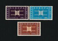 CYPRUS 1963 - EUROPA-CEPT. Complete set. MNH. €40