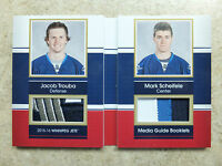 15-16 UD SP Game Used Media Guide Booklets Patch MARK SCHEIFELE/JACOB TROUBA /15