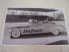 1951 CHRYSLER CONVERTIBLE INDY 500 PACE CAR  11 X 17  PHOTO  PICTURE