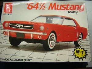 AMT '64 1/2 Mustang Hardtop 1/16 Scale KIT #6722 Opened Sealed inside
