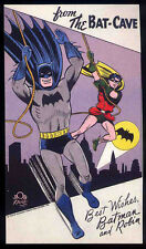 BATMAN REPRO 1960 BATMAN & ROBIN PROMO POSTCARD . DC COMICS