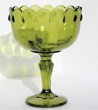 Gorgeous, Vintage, Avocado, Indiana Glass, Large Compote Pedestal