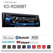 JVC Bluetooth Radio KD-RD88BT Single DIN In-Dash Car Stereo CD Player AUX USB BT