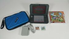 Nintendo 3Ds XL Black Red-001 Animal Cross&Angry Bird Bundle W/Case & Charger