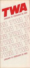 TWA system timetable 1/15/85 [308TW] Buy 2 Get 1 Free