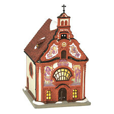 Dept 56 Alpine Village Series Porcelain Holy Ghost Church Lighted 6000565 New