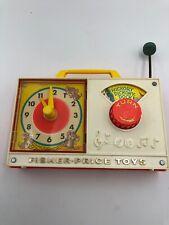 Vintage Fisher Price Wind-up Clock Radio Hickory Dickory Dock Japan Music Box