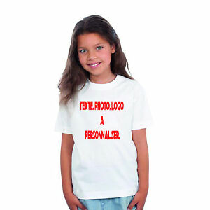 lot de 10 T-shirts ENFANT A PERSONALISER