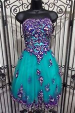 G2198 PRIMA DONNA SCIP044 SZ 4 $249 teal PROM HOMECOMING DRESS GOWN