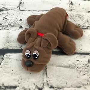 Vintage Pound Puppies Rumple Skins Plush Dark Brown Soft Stuffed Animal Toy Dog
