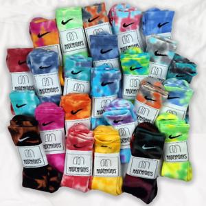 Tie dye NIKE  sock  Dri Fit  Handmade Unisex sold by pair