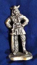 Vintage solid Pewter Viking figure Rolf 1981 Selandia Norway