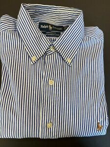 Ralph Lauren Yarmouth 100% Cotton Pinpoint Oxford Dress Shirt Men's 16 - 34