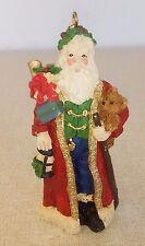 "Santa Claus Christmas Ornament Resin 3.5"""