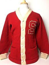 1960's Vintage Revere Letterman Varsity Cardigan Sweater 100% Wool Est. Men's 40