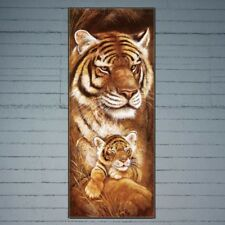 Tiger Mother and Baby 5D Full Diamond DIY Cross Stitch Painting Home Decor Craft