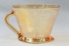 Jeannette Glass Company 1950s Floragold Louisa Iridescent Gold Cup
