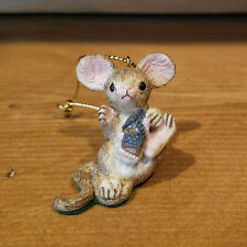 "David Winter Cottages ""What Cottage"" Mouse Christmas Ornament"