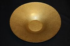 Murano Italian Art Glass Plate or Bowl - Large Size - Gold Reptile Skin Pattern