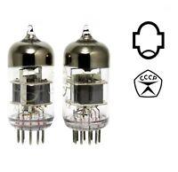 2 pcs 6N23P / E88CC / 6DJ8/ 6922 Reflector Double Triode Silver Shield Tubes NOS