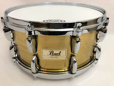 "Pearl Brass Shell Snare Drum 14"" x 6.5"" Master Lugs Die-Cast Hoops SOUND FILE"