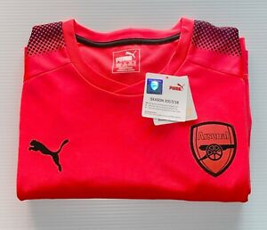 Puma Arsenal Long Sleeve Goalie Jersey 17/18 Pink Black Size XL