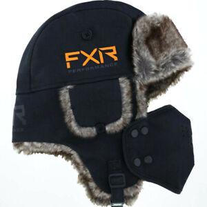 FXR Racing Trapper Hat - Black/Orange