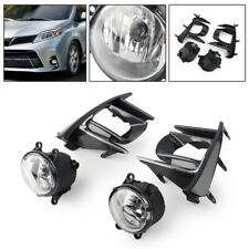 For 2017-2019 Toyota Sienna Complete Kit Fog Light Lamp /1Set W/Switch Wire