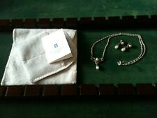 James Avery - Retired, Sterling Silver & Pearl Earring & Necklace Set