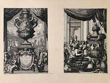 """LE PAUTRE  """"VASES""""  DEUX GRAVURES 1659"""